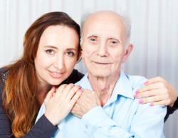 caretaker and elderly man